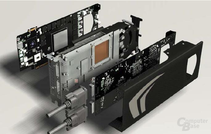 GeForce GTX 295 in Einzelteilen