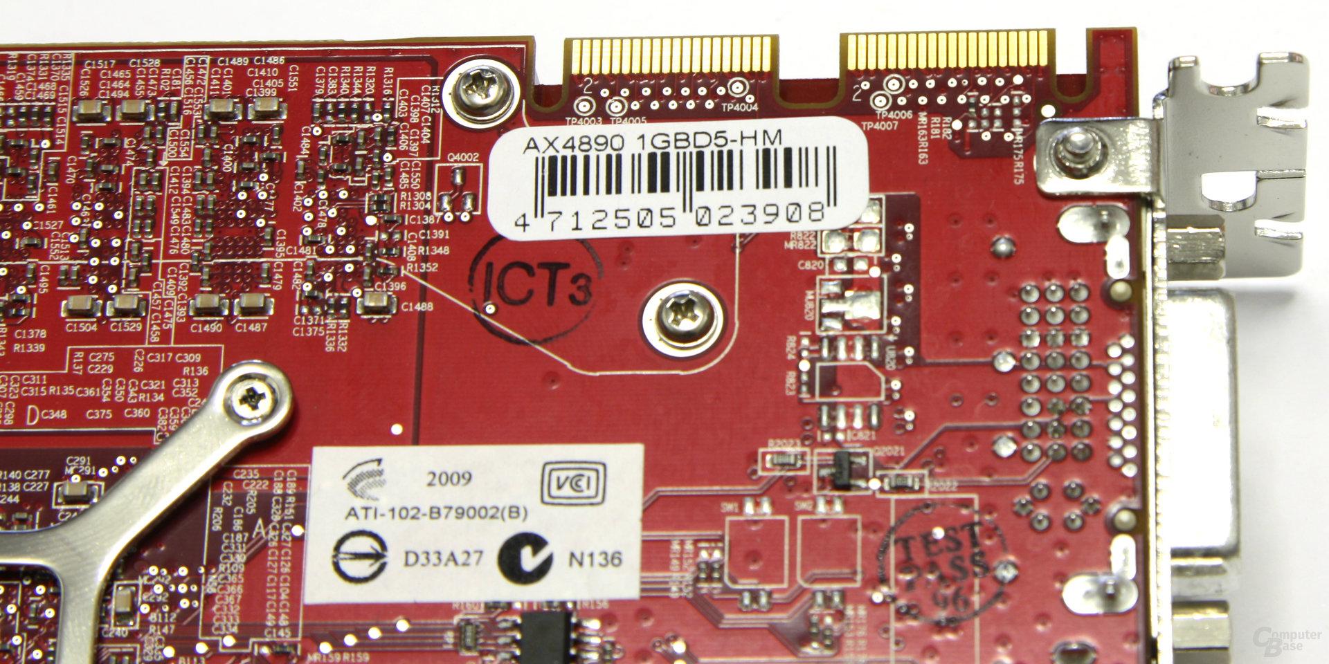 Radeon HD 4890 CF-Anschlüsse
