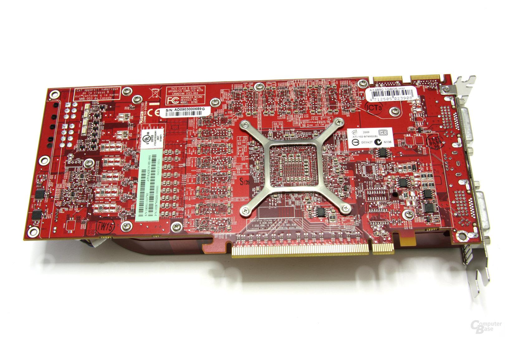 Radeon HD 4890 Rückseite