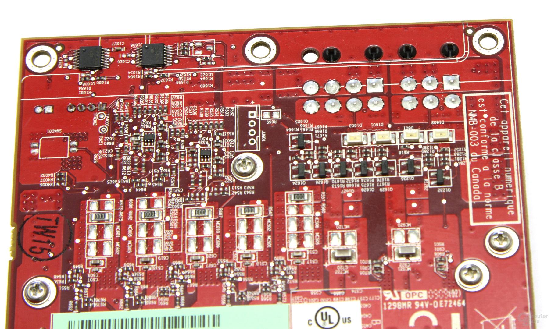 Radeon HD 4890 Stromanschlüsse Rückseite