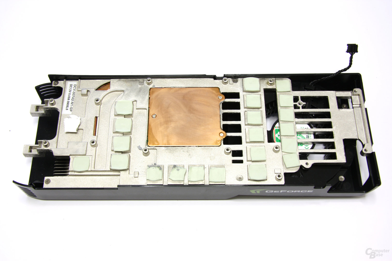 GeForce GTX 275 Kühlerrückseite