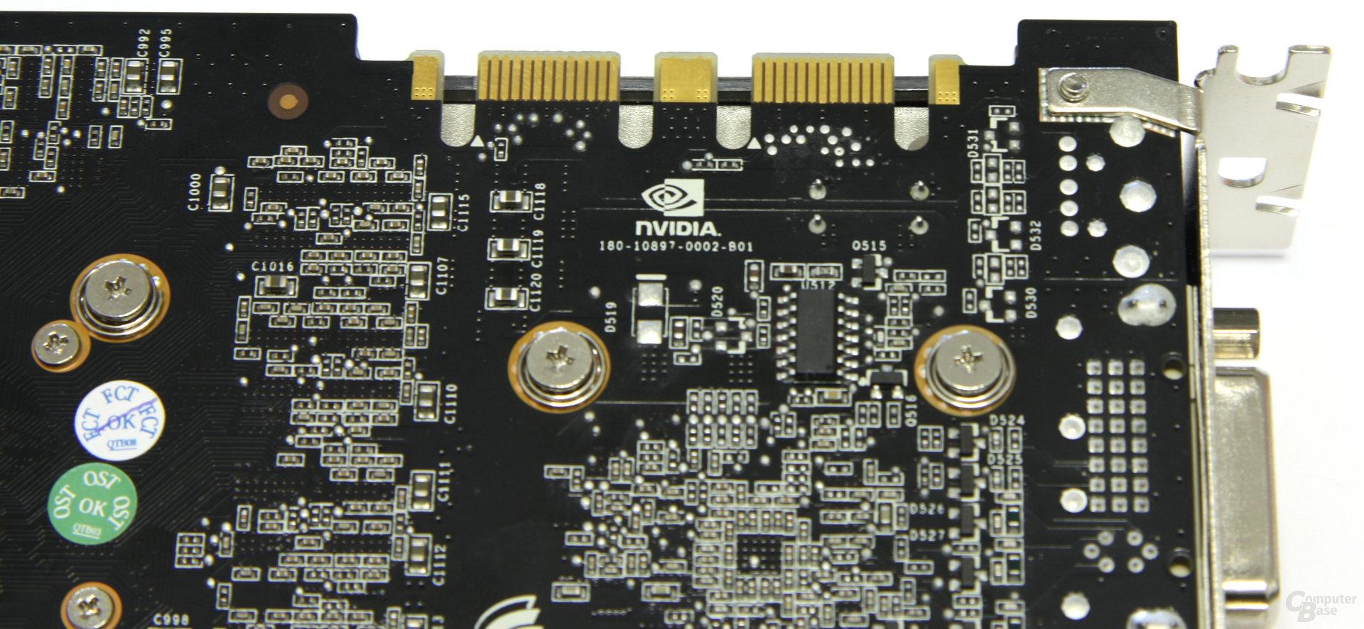 GeForce GTX 275 SLI-Anschlüsse