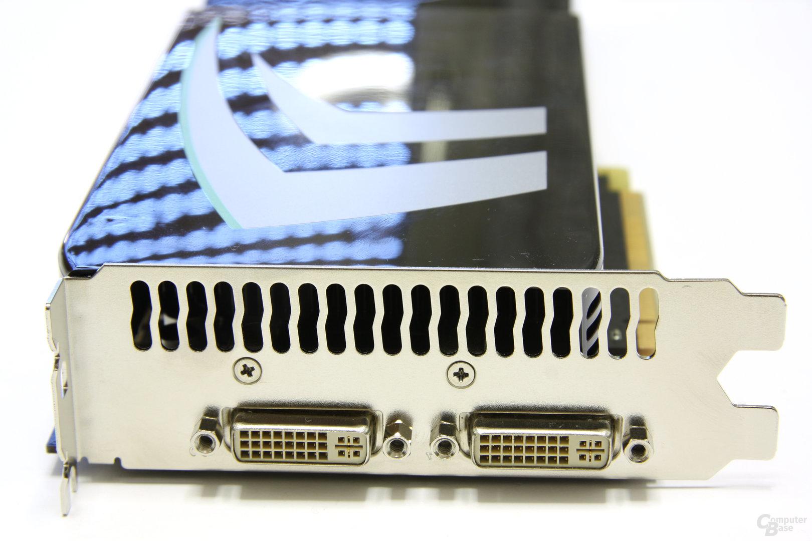 GeForce GTX 275 Slotblech