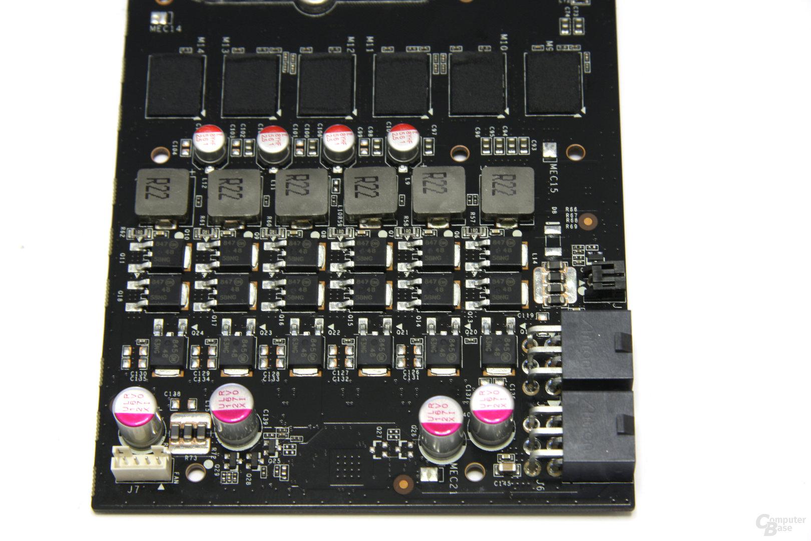 GeForce GTX 275 Spannungswandler