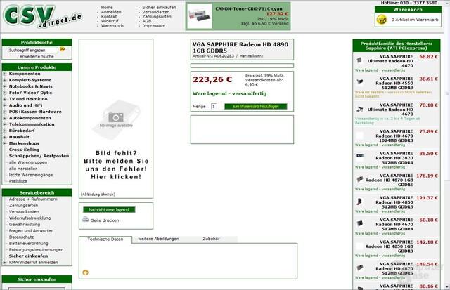 HD4890 verfügbar