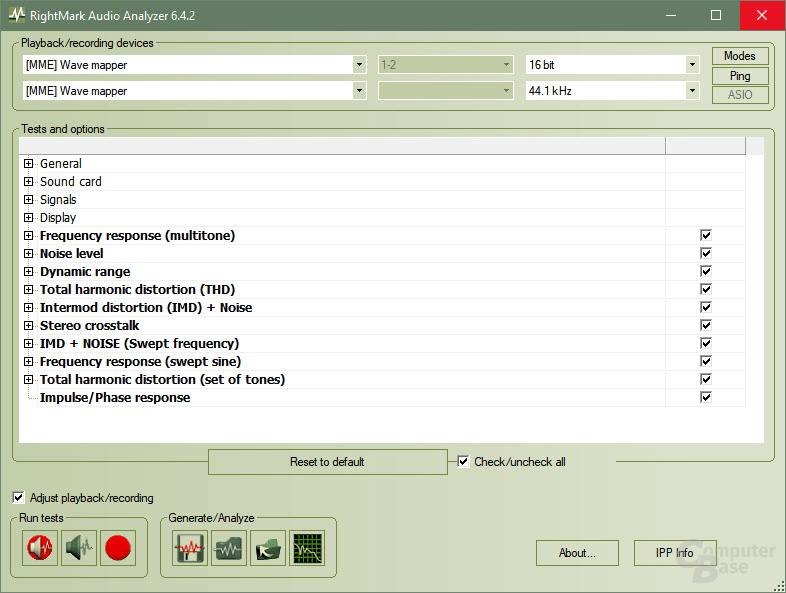 RightMark Audio Analyzer Suite