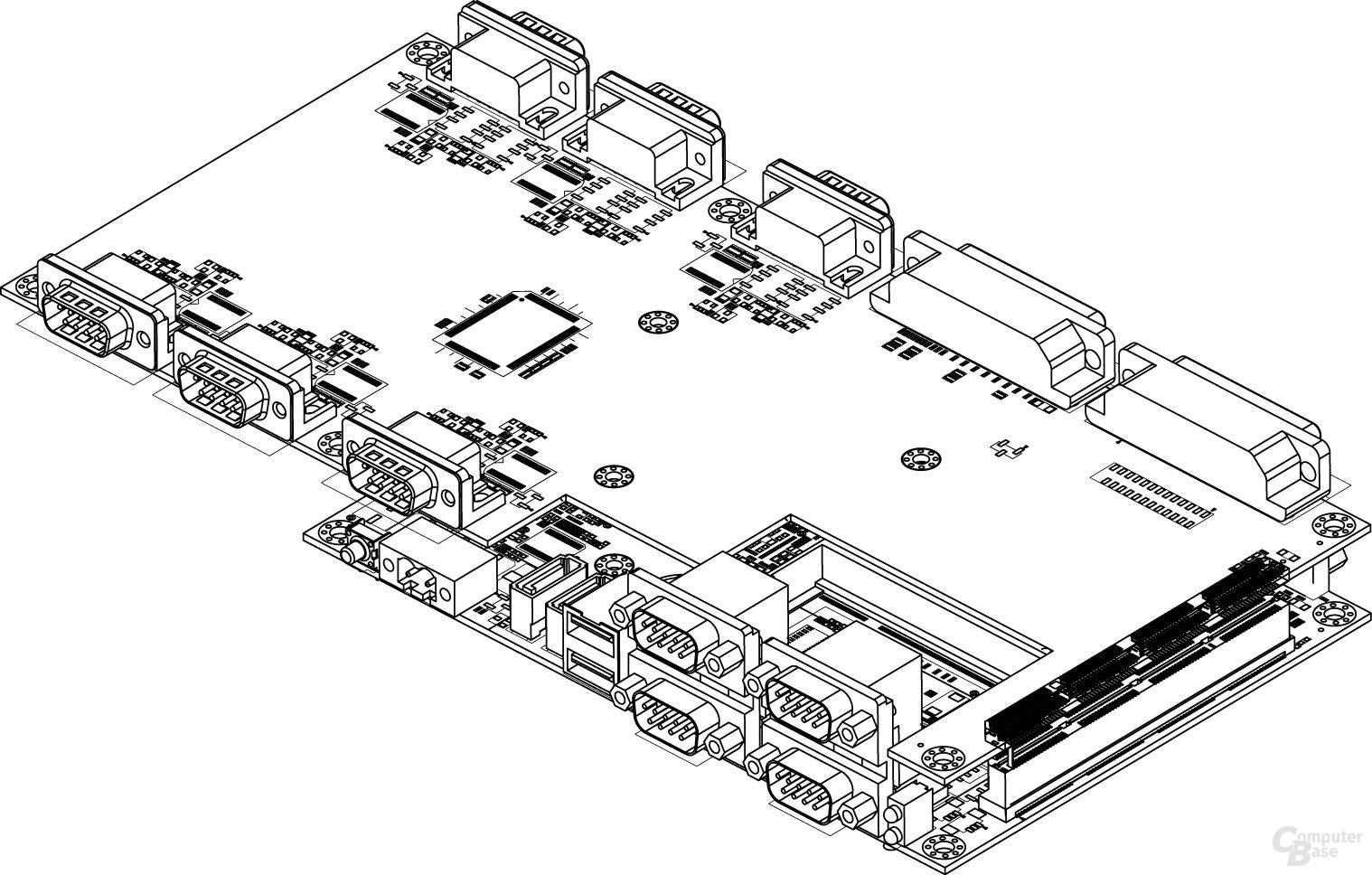 Em-ITX Board und Expansion Module