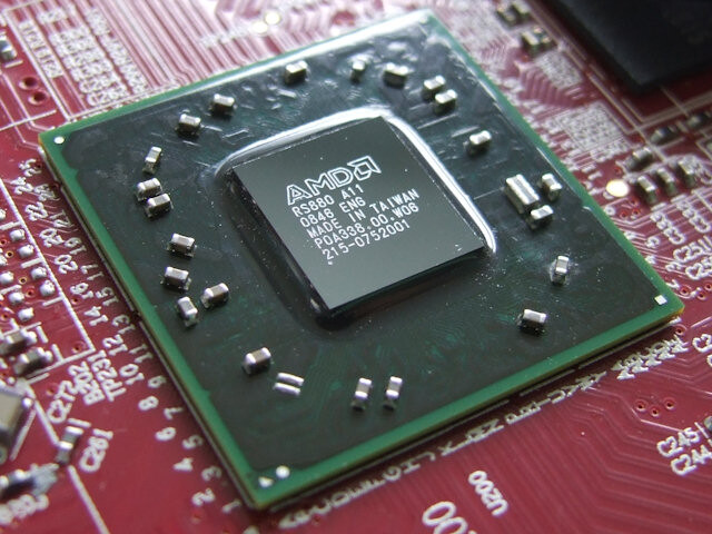 frühes Sample des AMD-RS880-Chipsatz