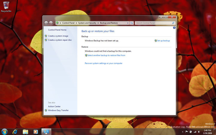 Windows 7 Build 7068 Home Premium