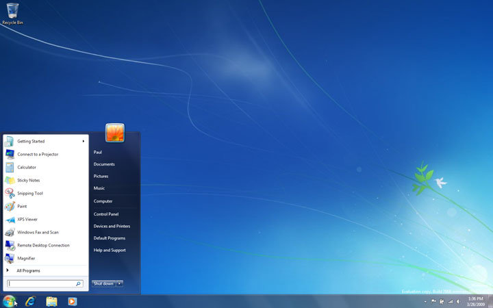 Windows 7 Build 7068 Professional