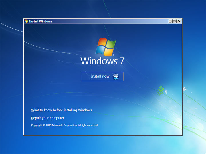 Windows 7 Build 7068: Interaktives Setup
