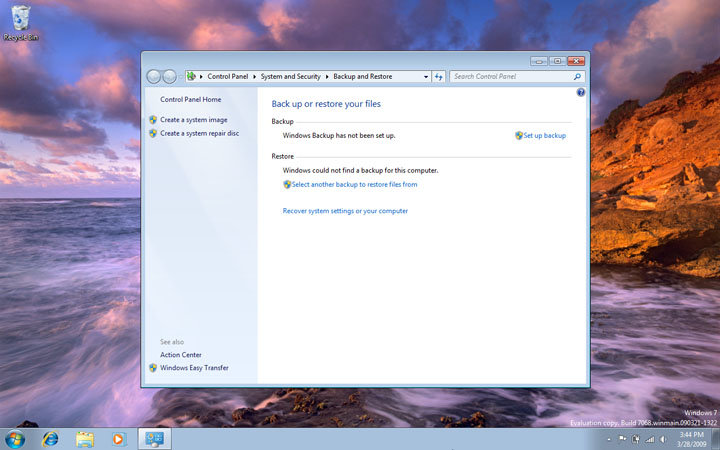 Windows 7 Build 7068 Home Basic