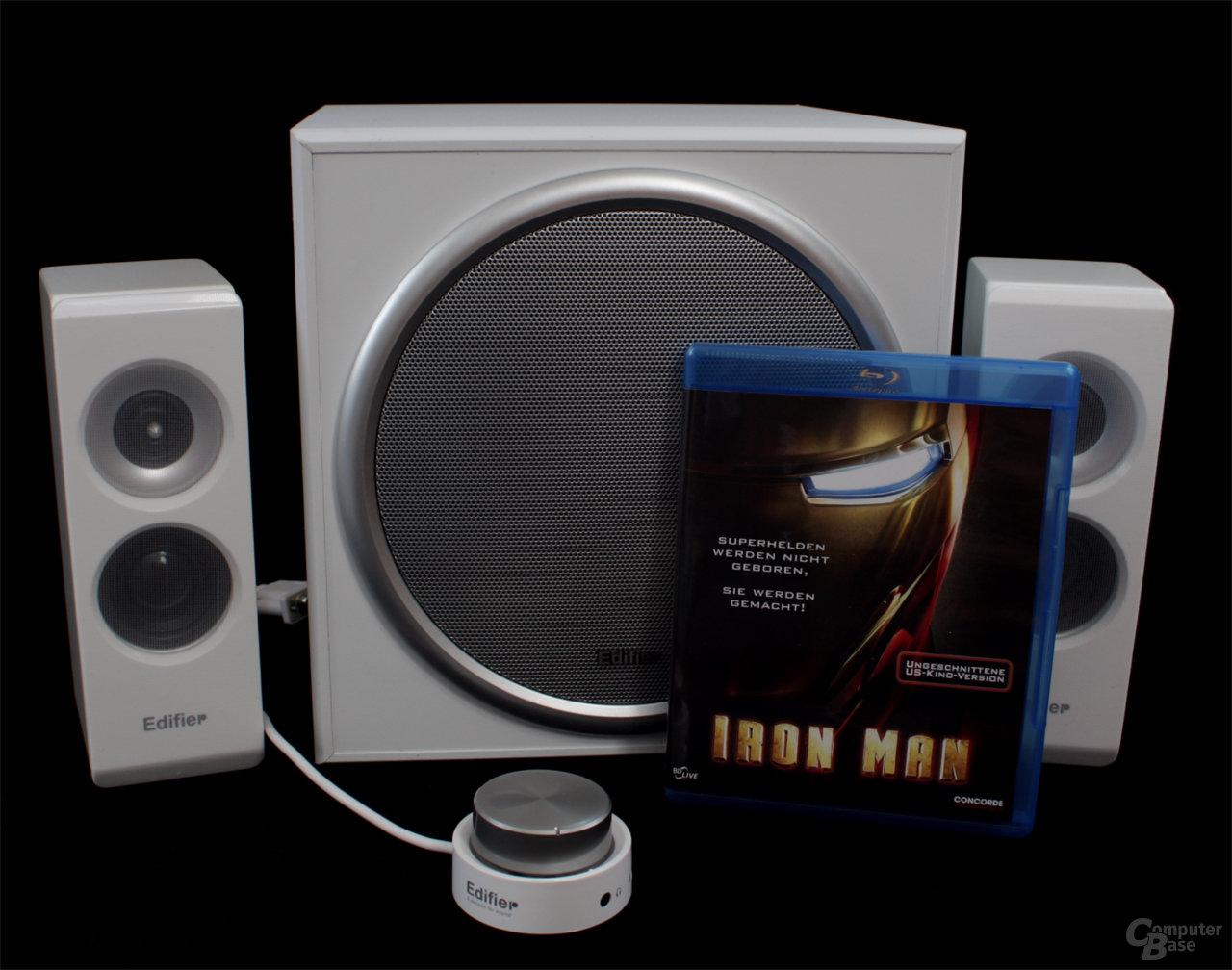 Größenvergleich mit einer Blu-ray-Disk