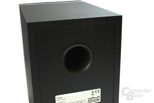 Bass-Reflex-Kanal auf der Rückseite