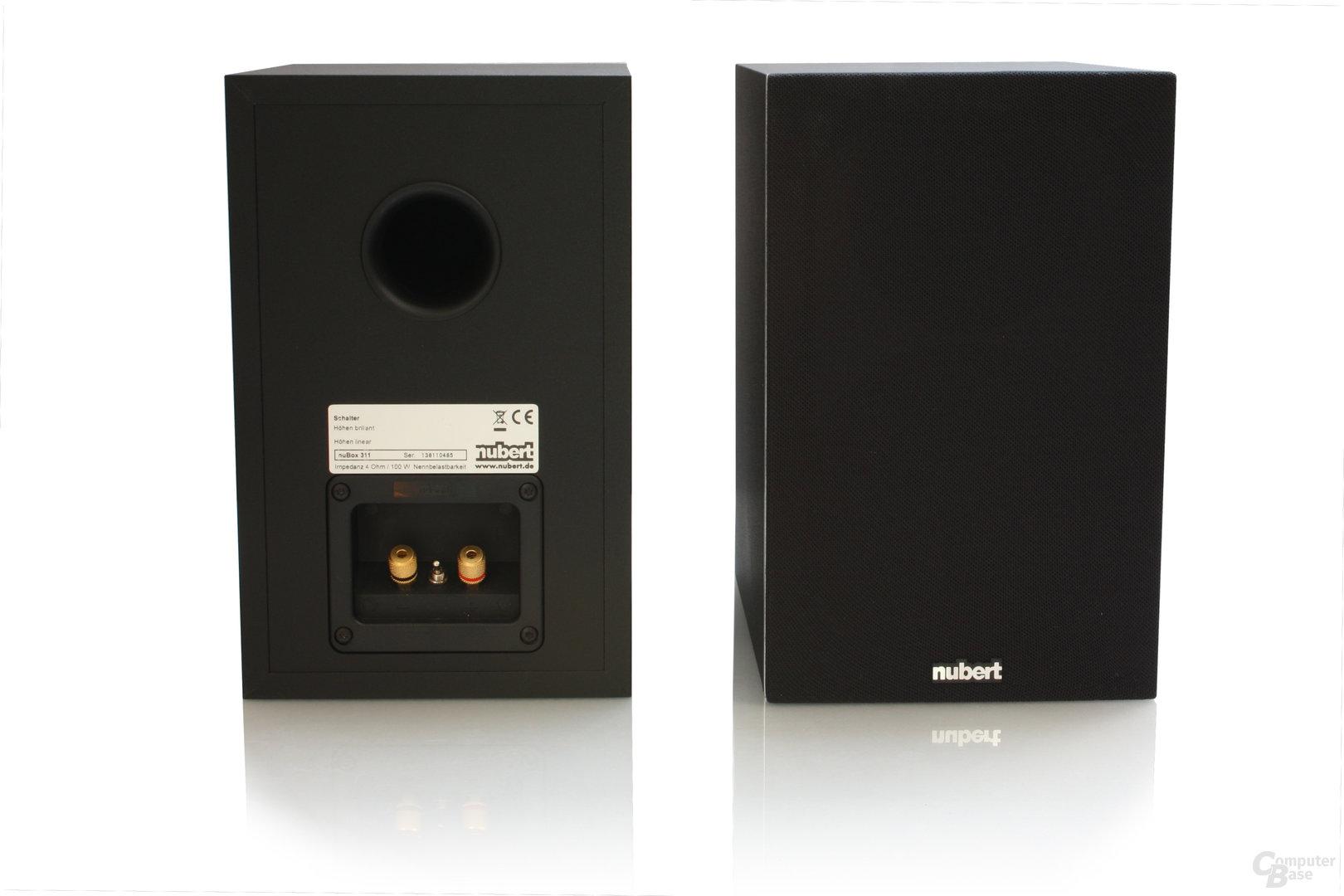 Vorder- und Rückseite der Nubert nubox 311