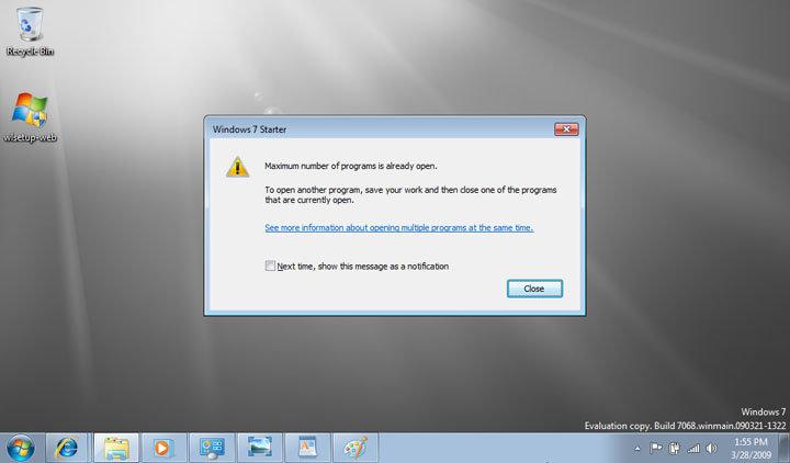 Windows 7 Build 7068 Starter