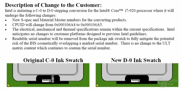 Änderungen vom C0- zum D0-Stepping