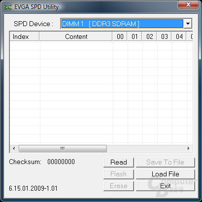 EVGA SPD Utility
