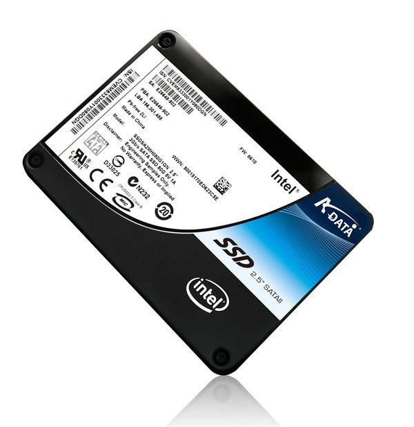 Solid State Drive von A-Data und Intel