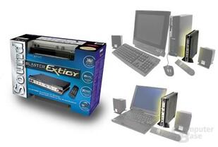 Die Soundblaster Extigy mit PC