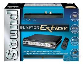 Die Soundblaster Extigy Verpackung