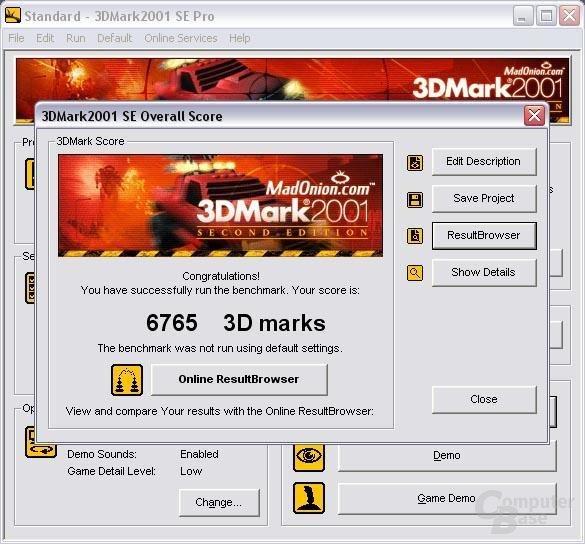 3D Mark 2001 SE Results
