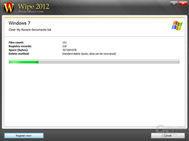 Wipe 2012 – Working progress