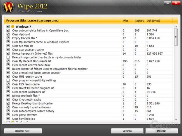 Wipe 2012 – Impressive list