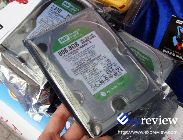 Western Digital Caviar Green mit 808,8 GByte