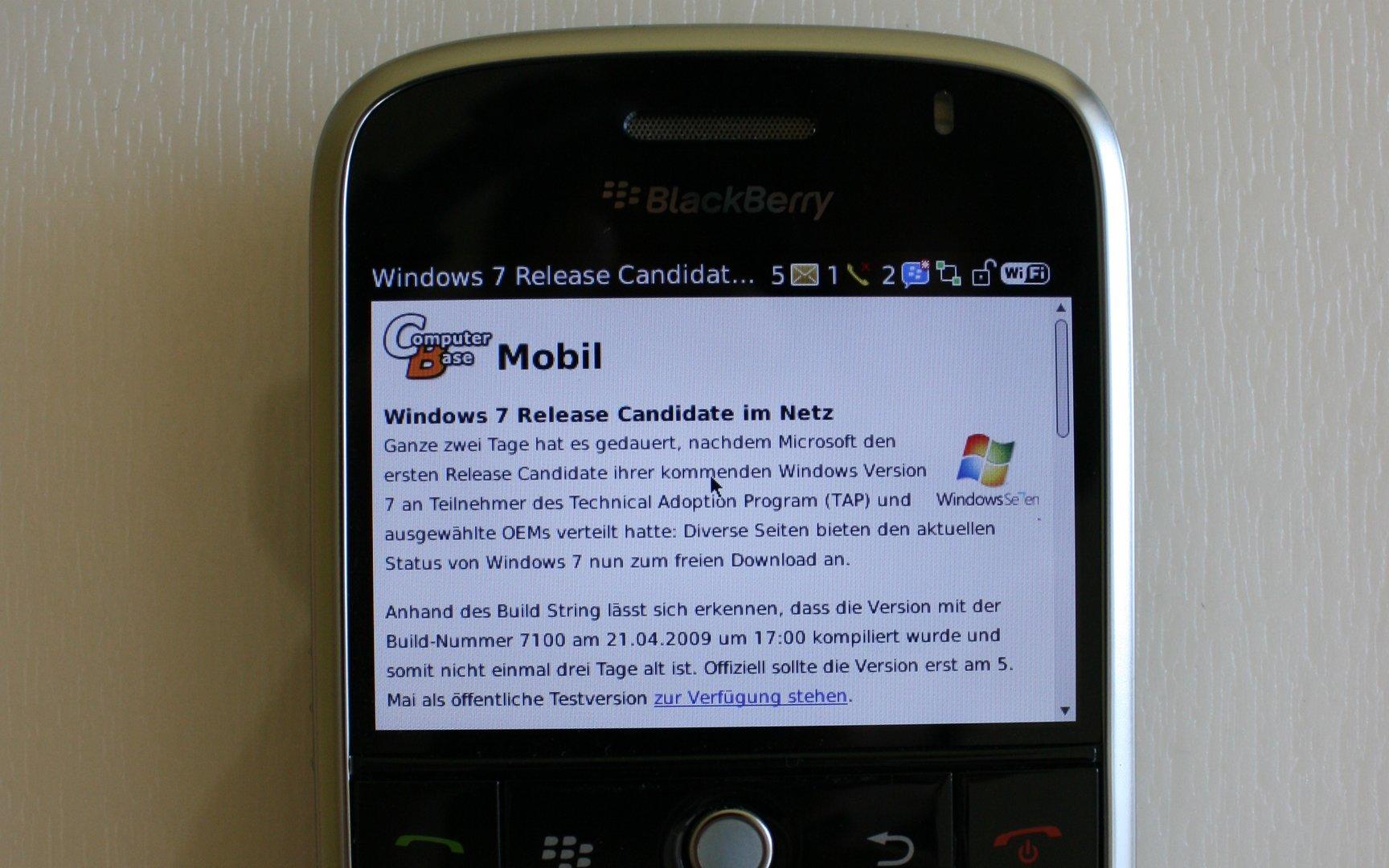 ComputerBase Mobil @ BlackBerry