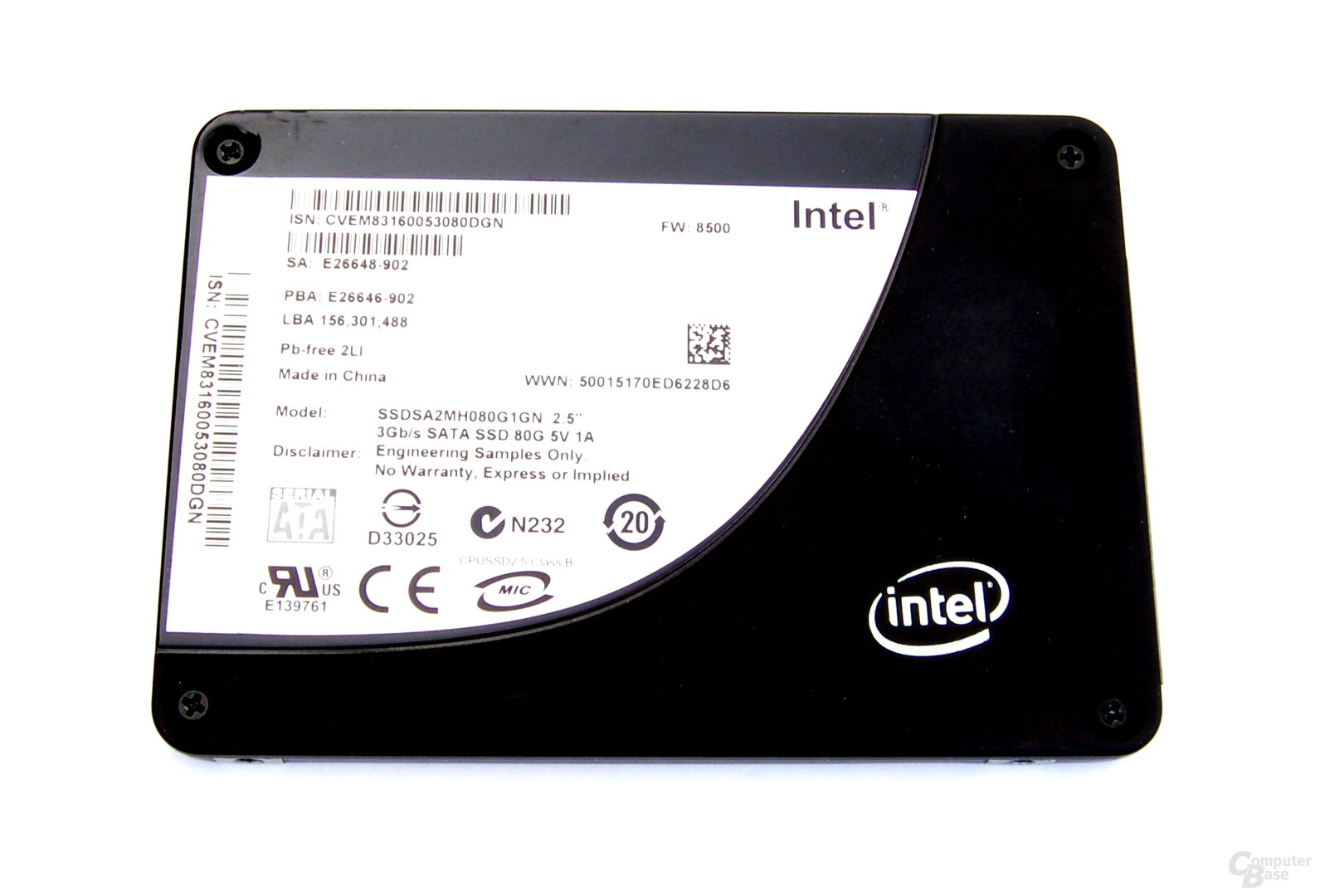Intel X25-M mit 80 GByte