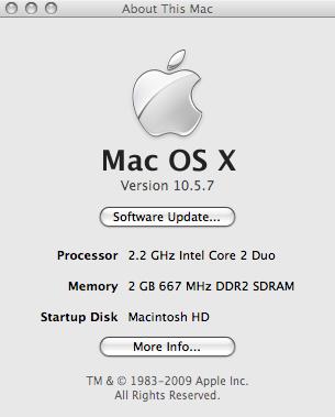 Mac OS X 10.5.7