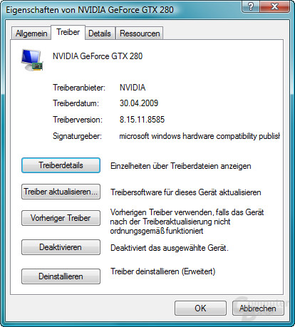 Nvidia GeForce 185.85