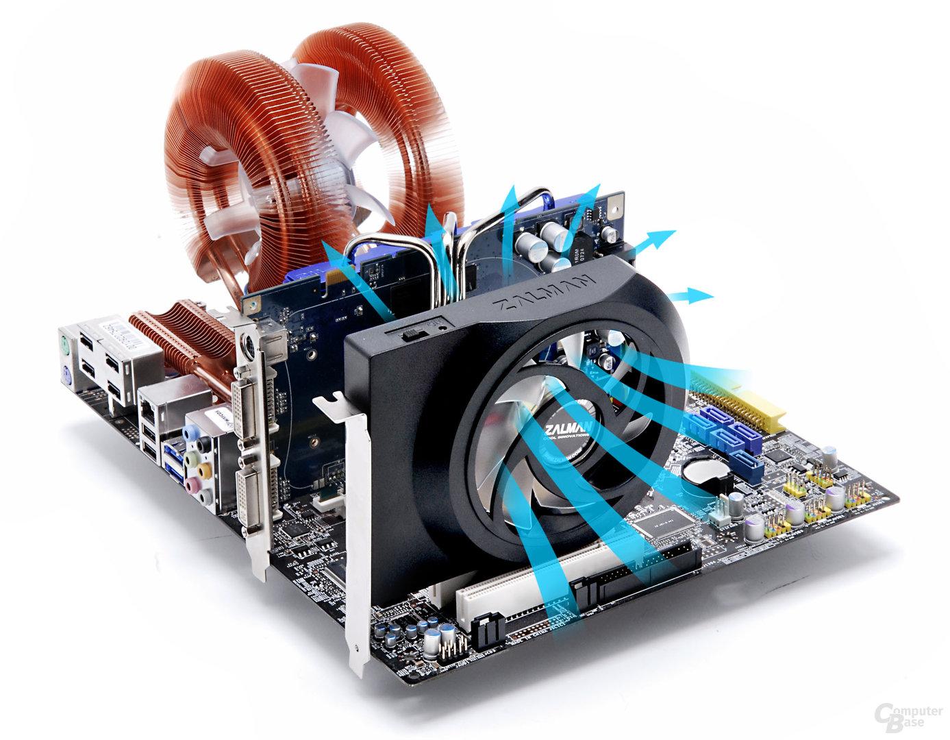 Zalman ZM-SC100_auf Mainboard_1