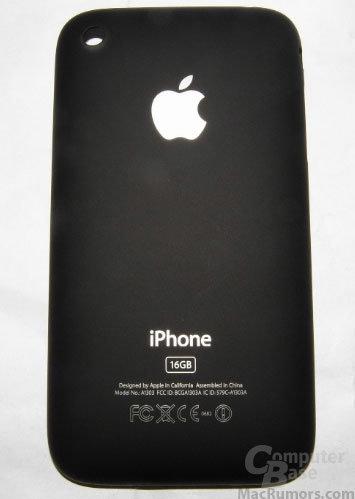 Angebliche Rückseite des iPhone der dritten Generation