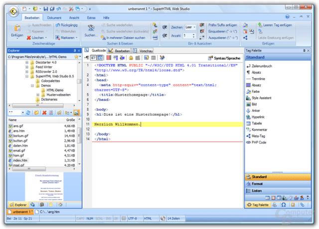 Benutzeroberfläche im Office 2007 Stil mit Multifunktionsleiste