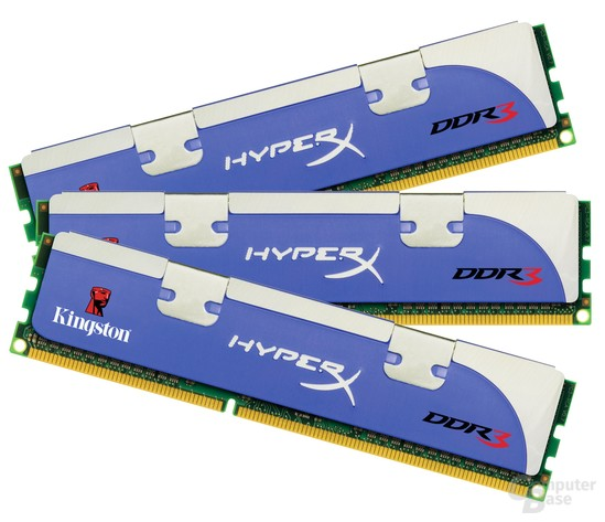 Kingston HyperX 1.600 MHz 12 GB Triple-Channel-Kit
