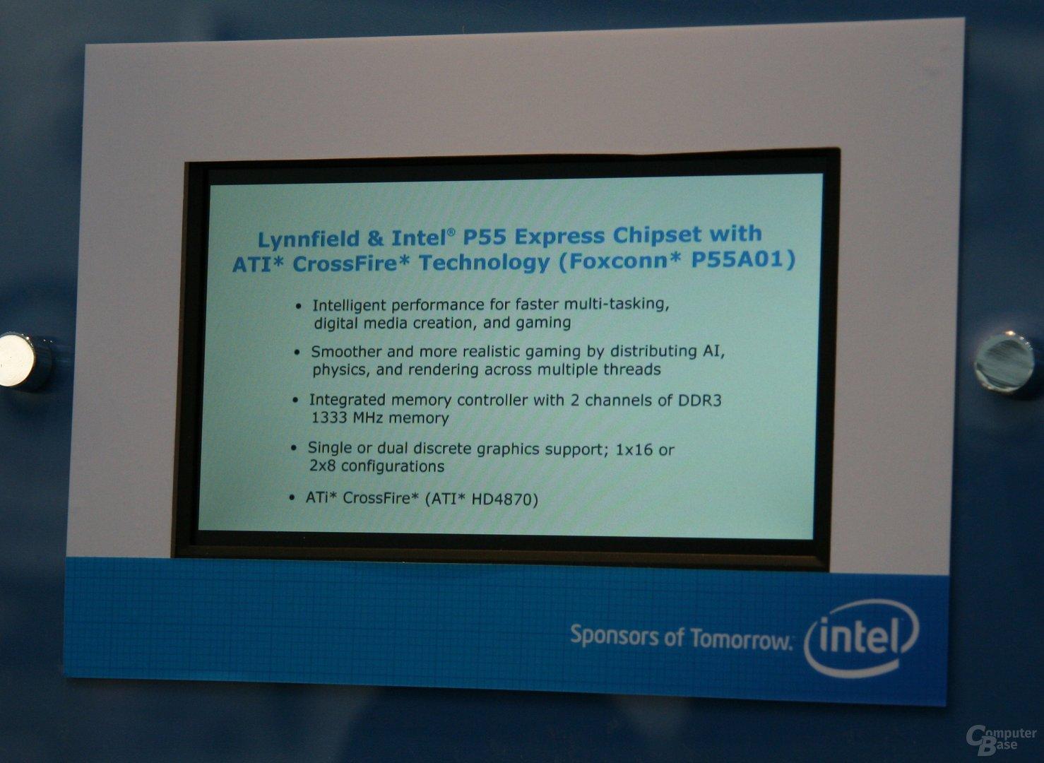 CrossFire auf einem P55-Board von Foxconn