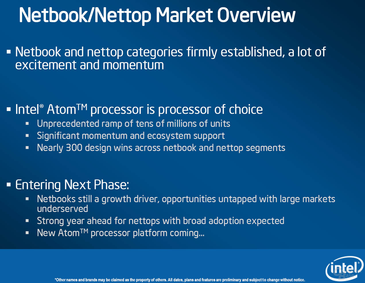 Intel Netbook Overview