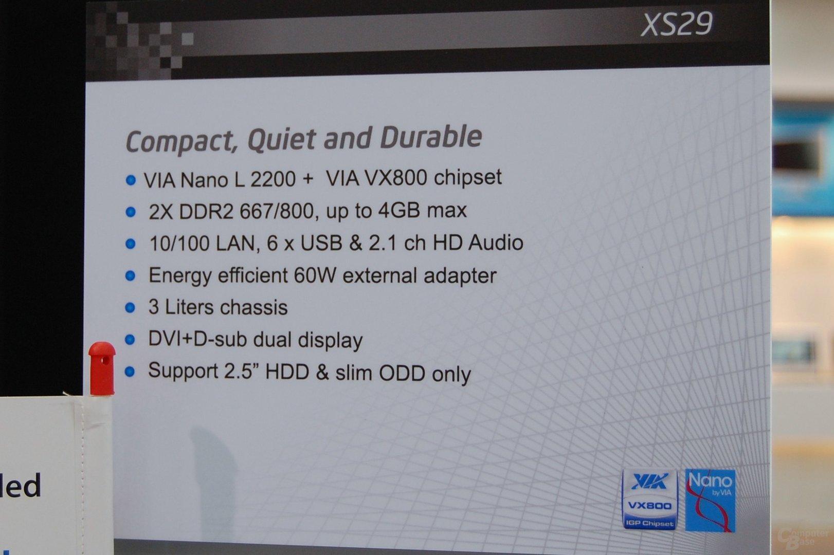 Shuttle XS29F mit VIA Nano
