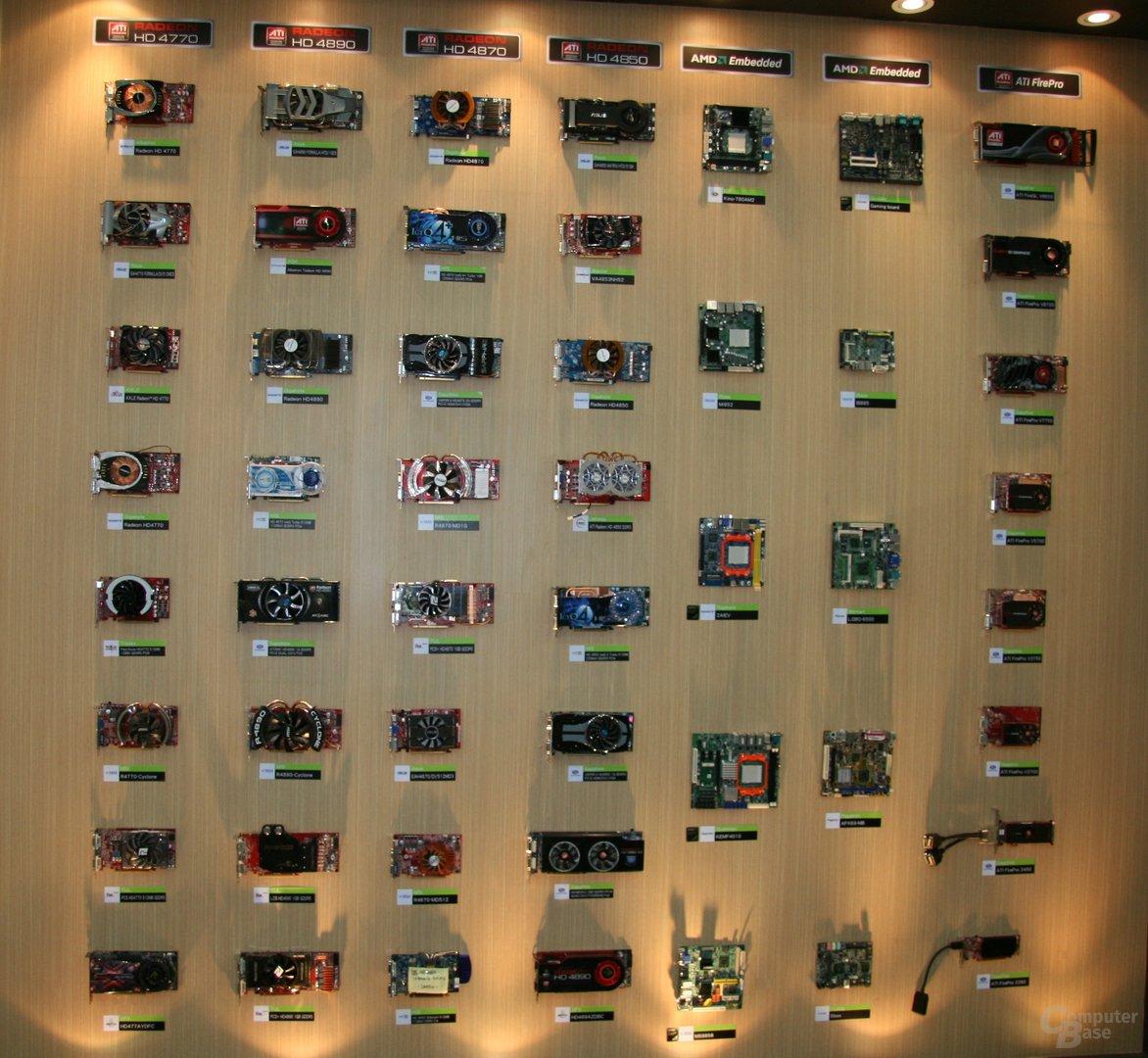 Die Grafikwand von AMD auf der Computex 2009