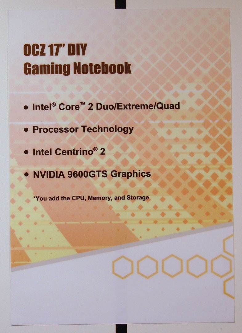 "OCZ 17"" DIY Gaming Notebook"