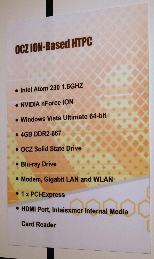 OCZ HTPC mit Nvidia Ion