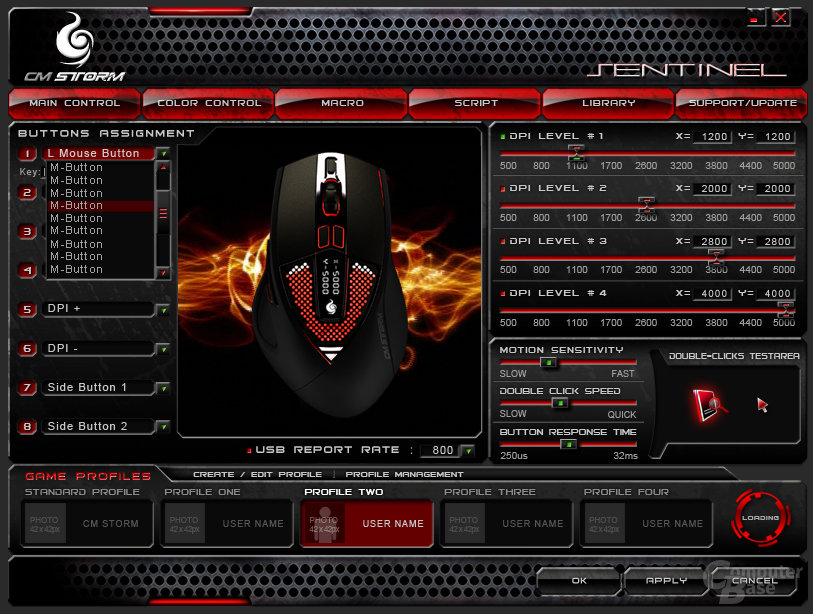 CM Storm Sentinel Advance Gaming Mouse
