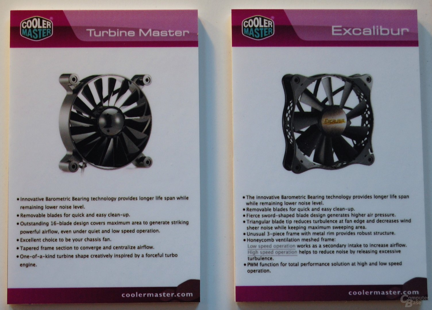 Cooler Master Excalibur und Turbine Master