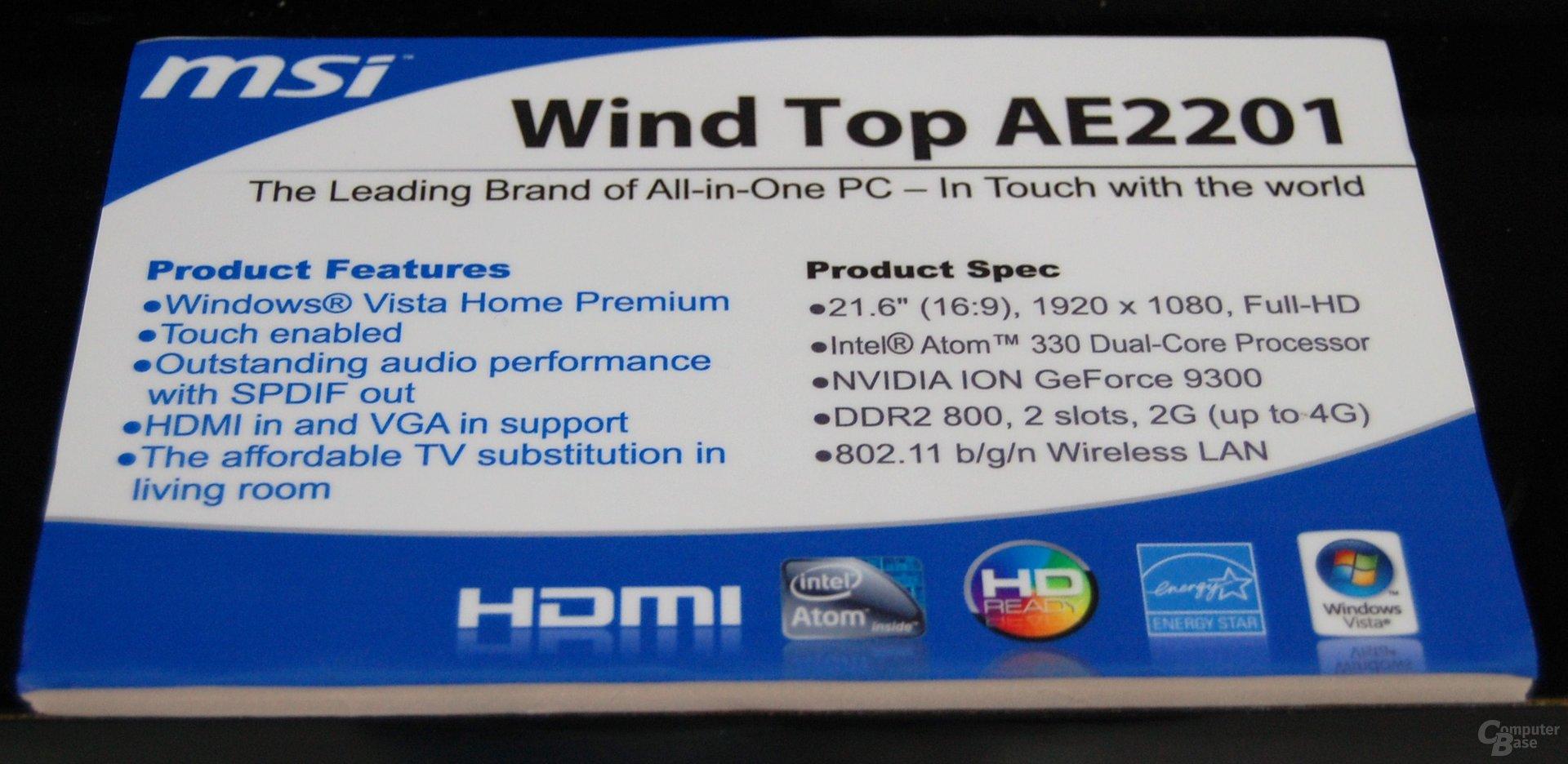 MSI Wind Top AE2201