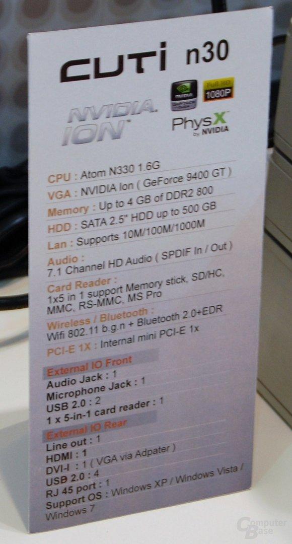 Sparkle CUTi n30 Nvidia Ion