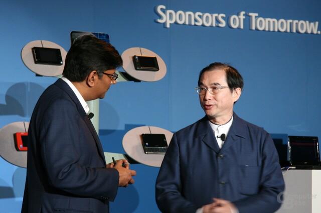 Chandrasekher mit Barry Lam von Quanta