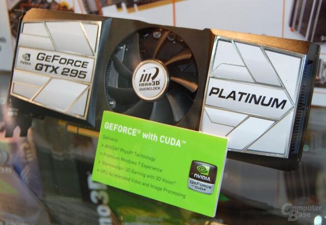 Inno3D GeForce GTX 295 Platinum mit nur einem PCB