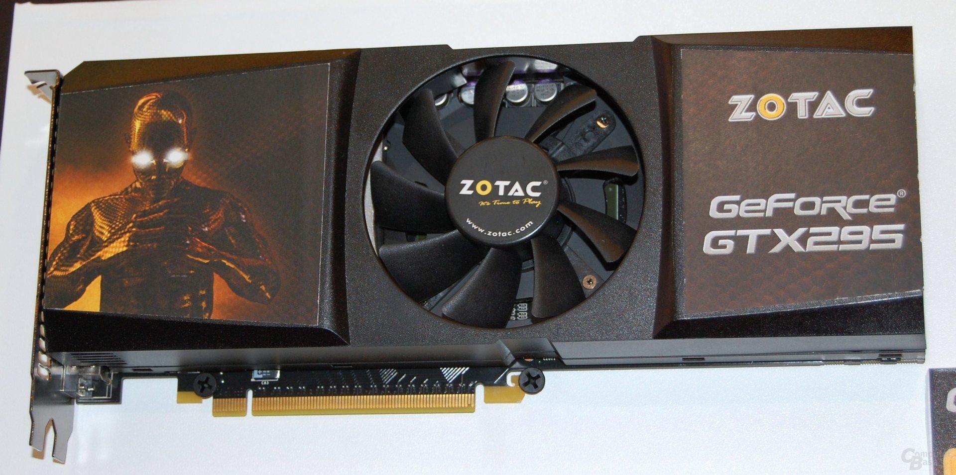 Zotac GeForce GTX 295 mit nur einem PCB
